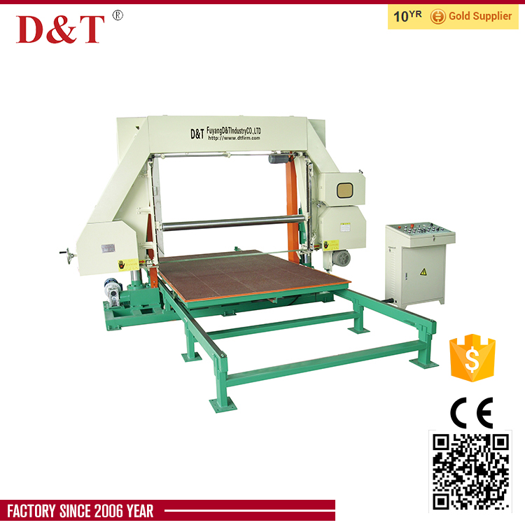 D&T automatic pu foam horizontal cutting machine for slicing foam sheet