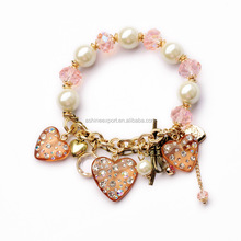 Least Top Designs Fashion Luxury Super Exquisite High Quality Imitation Pearl Resin Bracelet