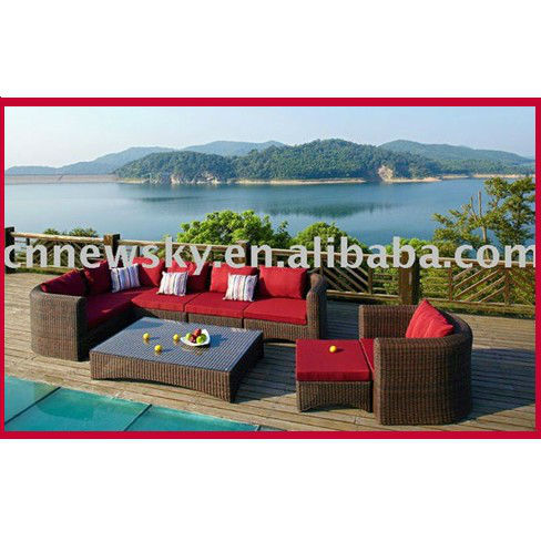 outdoor garden furniture Alu sofa furniture outdoor