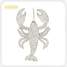 Beautiful handmade metal prawn wall art decor for wedding