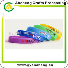 Popular Cheap Charity Promotion products item gifts Screen Printed Silicone Wristbands