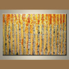 Wholesale modern free style wonderful acrylic textured the tree of life painting