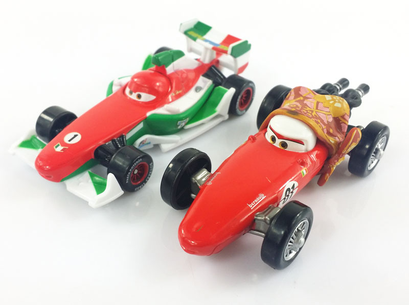 Buy 2pcs Original Pixar Cars 2 F1 Francesco Bernoulli Mom And No 1 Diecast Metal Alloy Modle Brio Toys New In Cheap Price On Alibaba Com