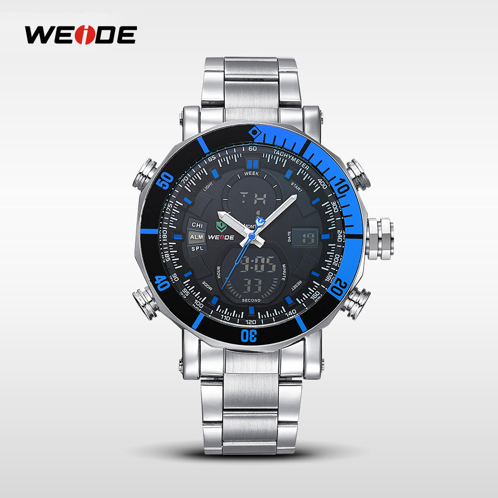 WEIDE Mvmt Watches, Backlight LCD Display Digital Watch, Sport Best Watch For Men