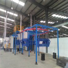 Fast color change electrostatic cabinet powder coating line