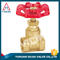 italy gate valve brass body DN 15 with ppr CE approved long handle with control valve and PTFE new bonnet PN16 NPT threaded