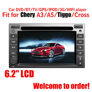 Fit for chery A3/A5/TIGGO/CROSS car audio player with gps
