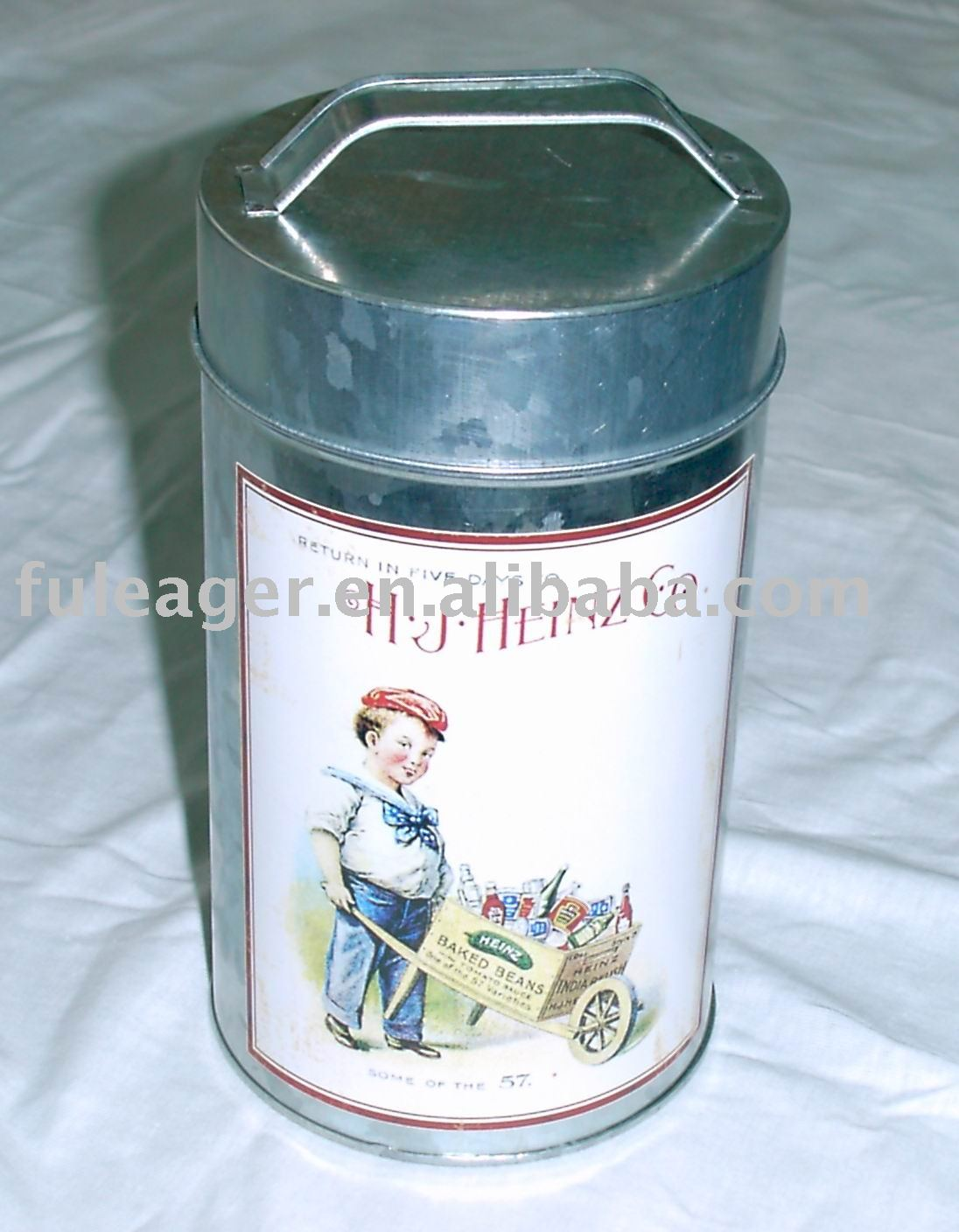 Galvanised tin case with handle, Galvanised box
