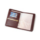Travel ticket card holder leather personalised passport holder cover