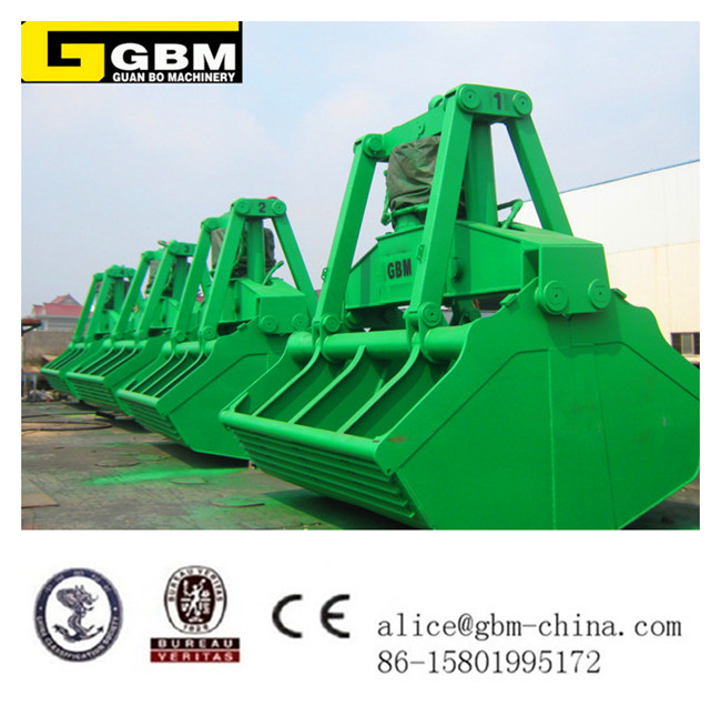 SWL 25T electro-hydraulic clamshell grab for deck crane