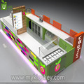 Customize and design frozen yogurt small shop of mall food kiosk from factory directly