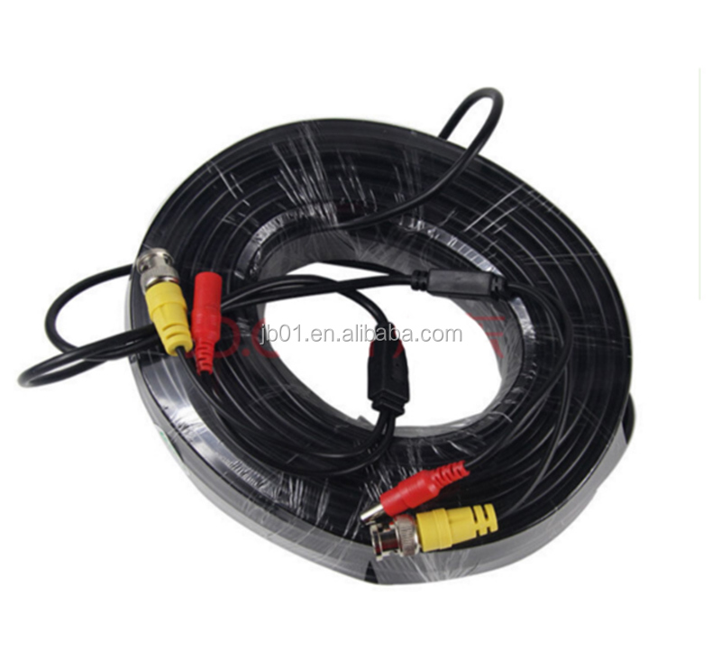 Millionwell OEM Customized CCTV accessories RG59 Video power cable for DVR