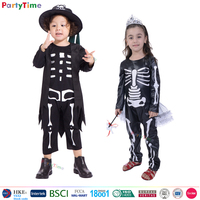 wholesale china yiwu party time children halloween costumes kids cosplay skeleton costume