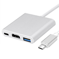 USB3.1 Type C Hub 3in1 USB C to USB3.0, HD, Charge for macbook and all type c mobile phone