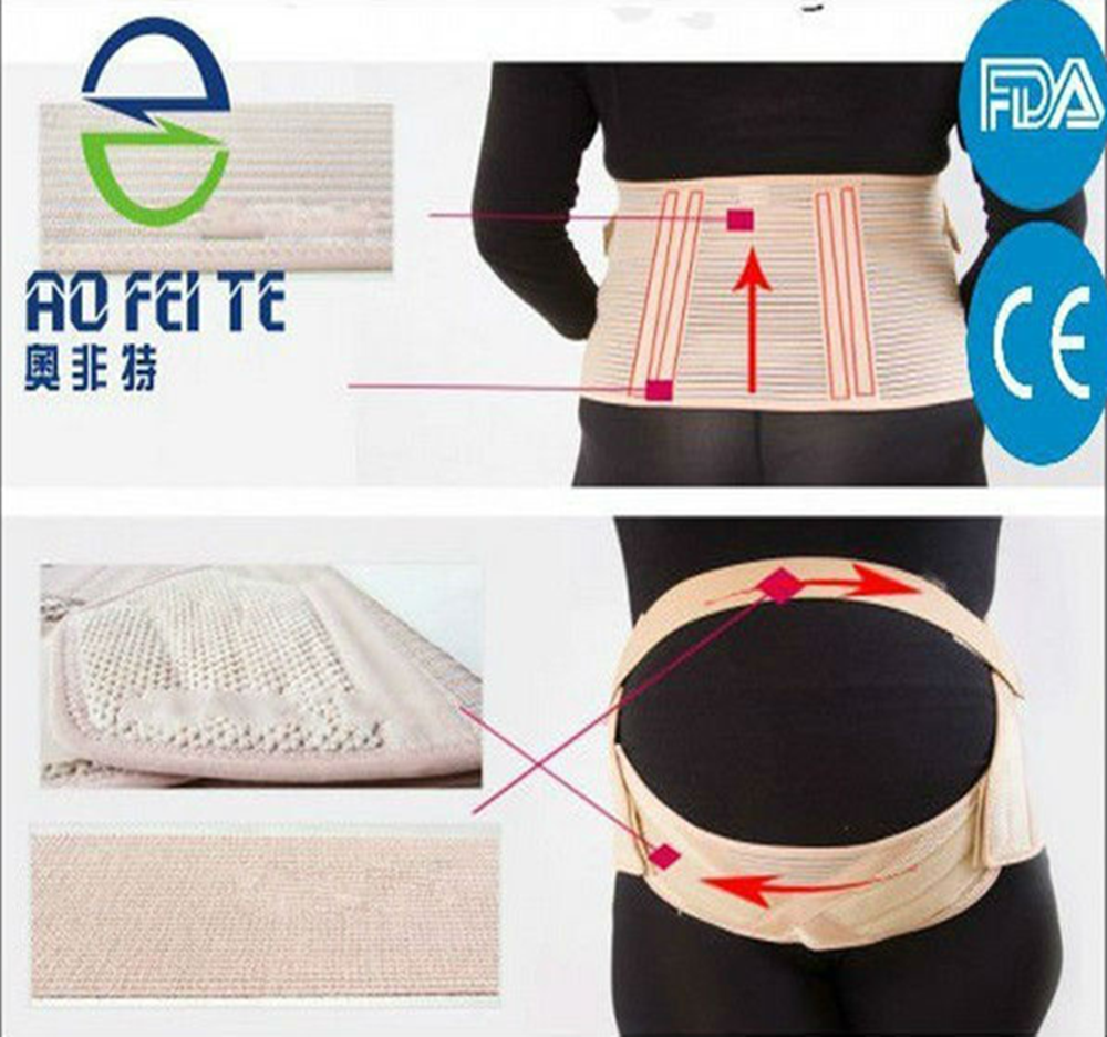 Aofeite (AFT-T003) FDA/CE/BV/ISO approved Hot !! Pregnancy Abdominal Wraps Band Maternity Support Belt post pregnancy belly belt