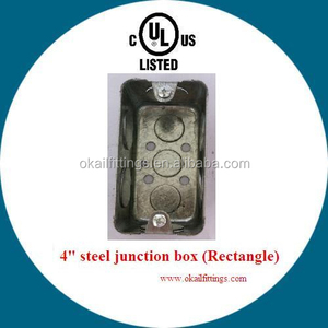 UL listed steel junction box (rectangle)