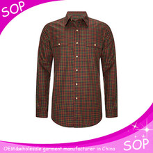 High quality cheap cool flannel check cotton shirt wholesale
