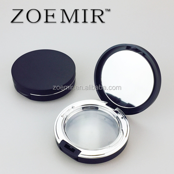 Elegant girl makeup matte black cosmetics compact packaging blusher