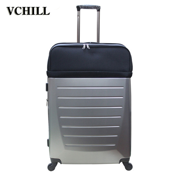 Customized travel urban trolley abs luggage set for business trip