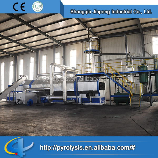2016 Top Quality Industrial Machines Continuous Waste Plastic to Oil Pyrolysis Plant