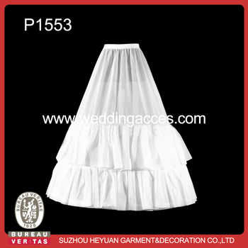 P1553 Hot Sale White 3-hoop Wedding Petticoat Crinoline for Bridal