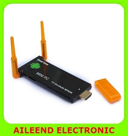 CX919 II Android 4.4 Android TV Stick, Quad Core 2G/8GB Bluetooth Dual External WiFi Antenna 1080P Android TV Dongle