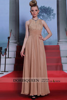 DORISQUEEN Dropshipping wholesale new arrivals 2014 floor length beaded fashion mature women celebrity boutique dress