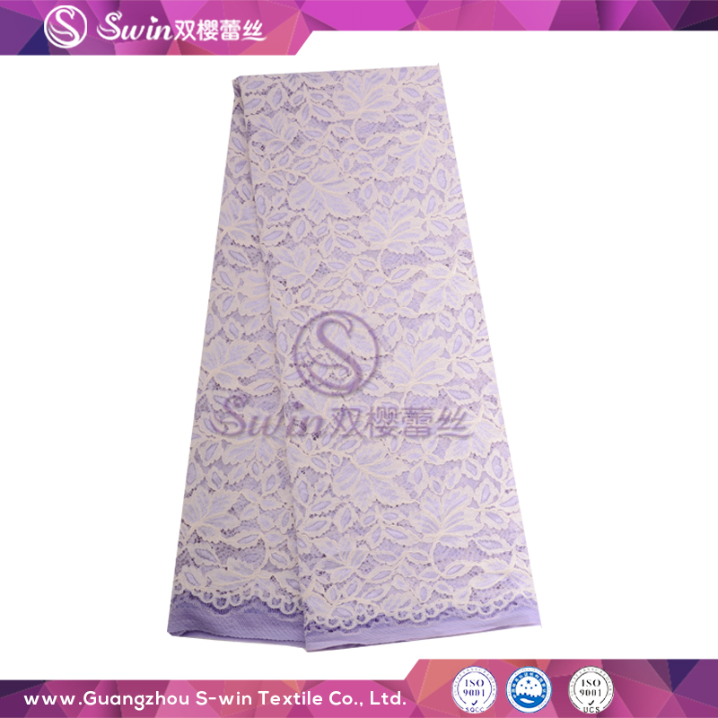 Purple Shining Lace Fabric And Cord New Design Embroidery Lace For Vitenam garment factory and vietnam fabric