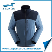 Men waterproof windproof breathable 100 polyester soft shell jacket
