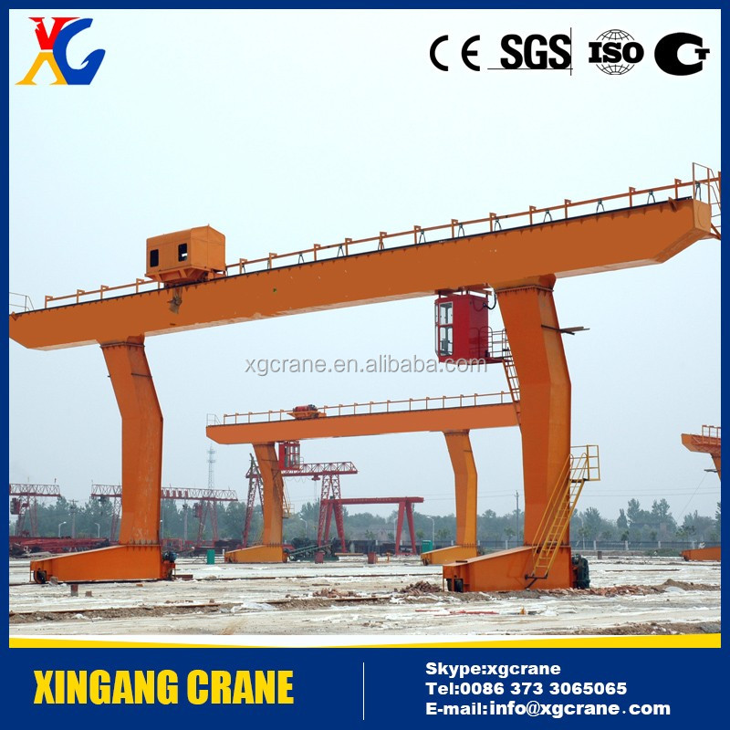 20 Ton A-frame Gantry Crane With Cantilever on Rail