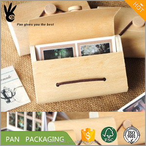 Cheap birch veneer boxes use packaging postcard photo weeding return birch wood veneer soft bark gift box