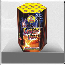 "WFC0807C 0.8"" 7S Cross Fire Christmas celebration consumer cakes fireworks"
