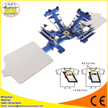 Convenient four color desktop manual offset screen printing machine for sale