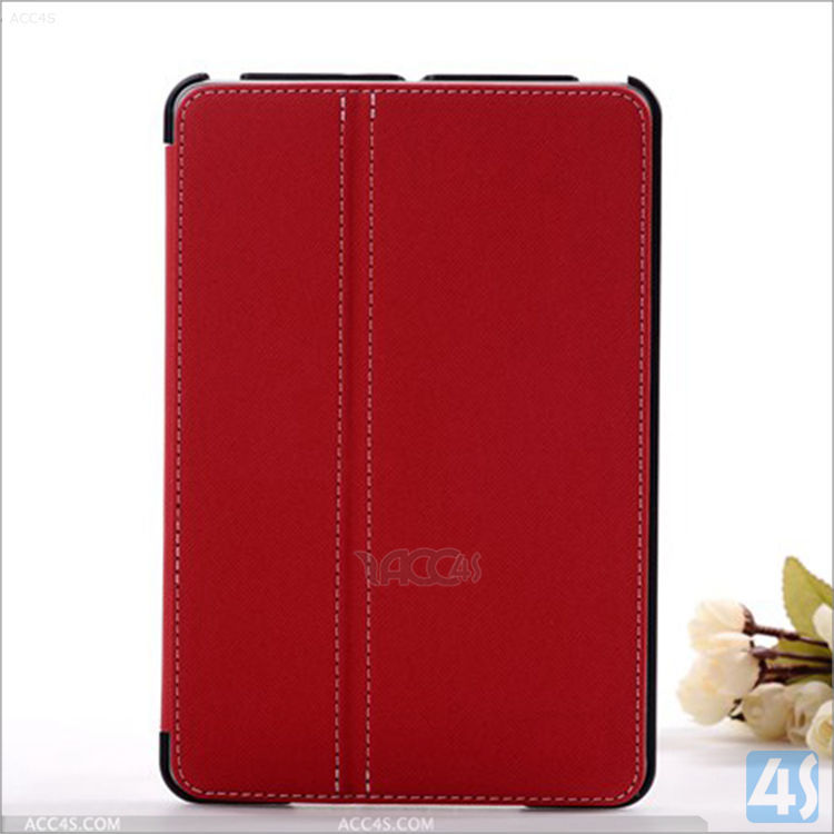 Ultra slim tow fold Leather Flip Stand Folio tablet case For Apple iPad Mini 2/3