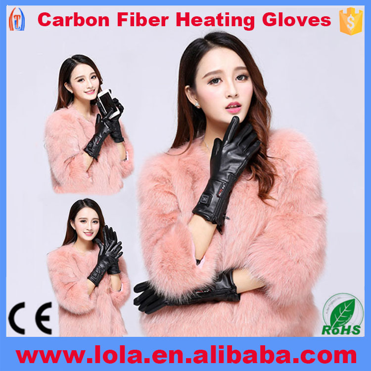 Leather Fancy Gloves Ladies With Heated Finger
