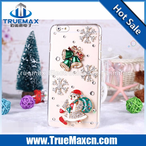 Christmas Gift Cell Phone Case for iPhone 5 5C 5S, for iPhone 5 5C 5S Transparent PC Post Diamonds Case