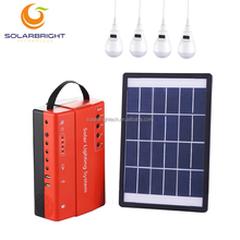 Solar portable small mini camping system rechargeable led home lighting 5w portable mini solar power system with four bulbs