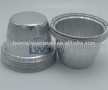 round aluminium foil deep bowl with plastic lid for food packaging