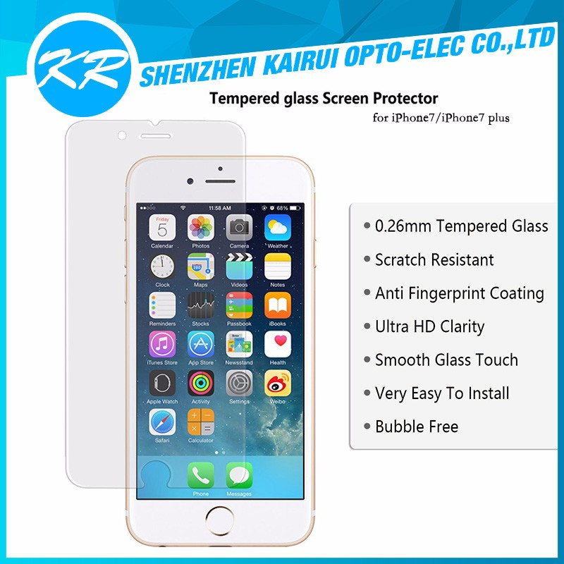 Factory China Manufacturer Wholesale Price Tempered Glass Screen Protector For iphone 7 Plus 5S 6S