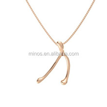 14k Rose Gold Necklace,Latest Design Jewelry Pretty 14k Rose Gold Plated Jewelry