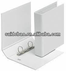 Elegant Leather White Folder with Ring Binder Popular for Business Conference Office/ Students