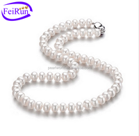 8-9mm AAA grade freshwater real pearl necklace price