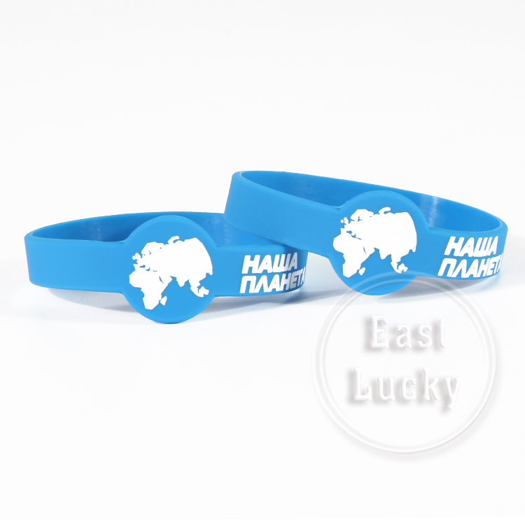 DIY rubber silkscreen printing personalized silicone bracelets