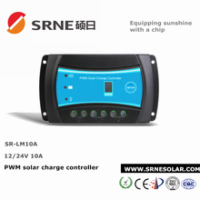 10A PWM solar system controller 12/24V auto intelligent battery charge controller with high quality good service