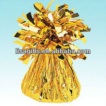 2012 hot selling foil balloon weights golden