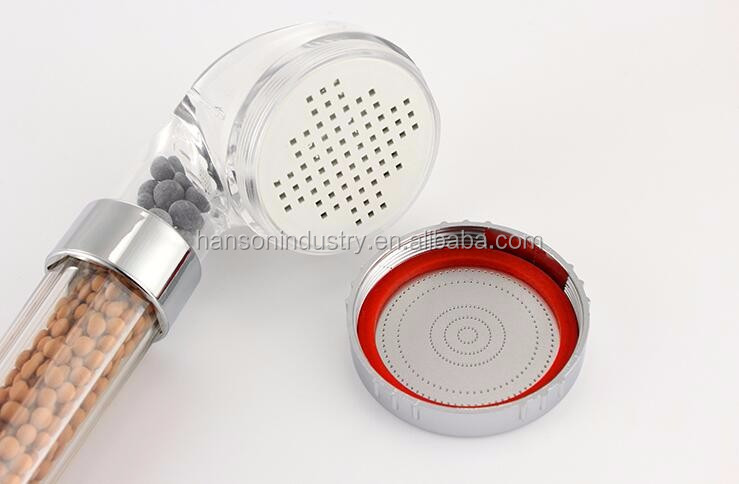 Bathroom PC plastic negative ion shower wall mount shower head for europe
