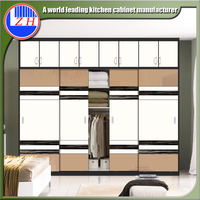 Latest wardrobe sliding door design laminate bedroom wardrobe