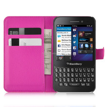 Wallet PU Leather Card Slots Case Cover For Blackberry Q5