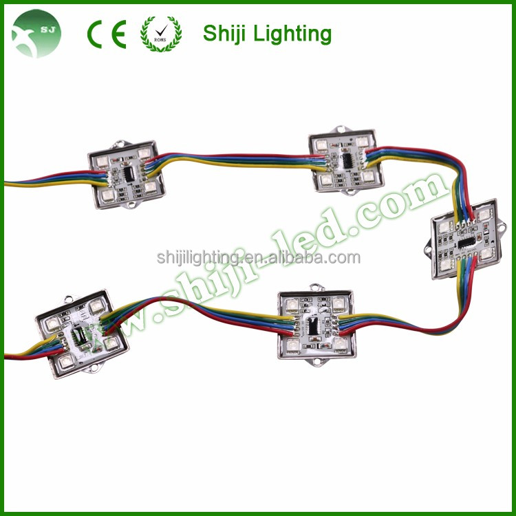 RGB LED square module pixel light led advertising cluster