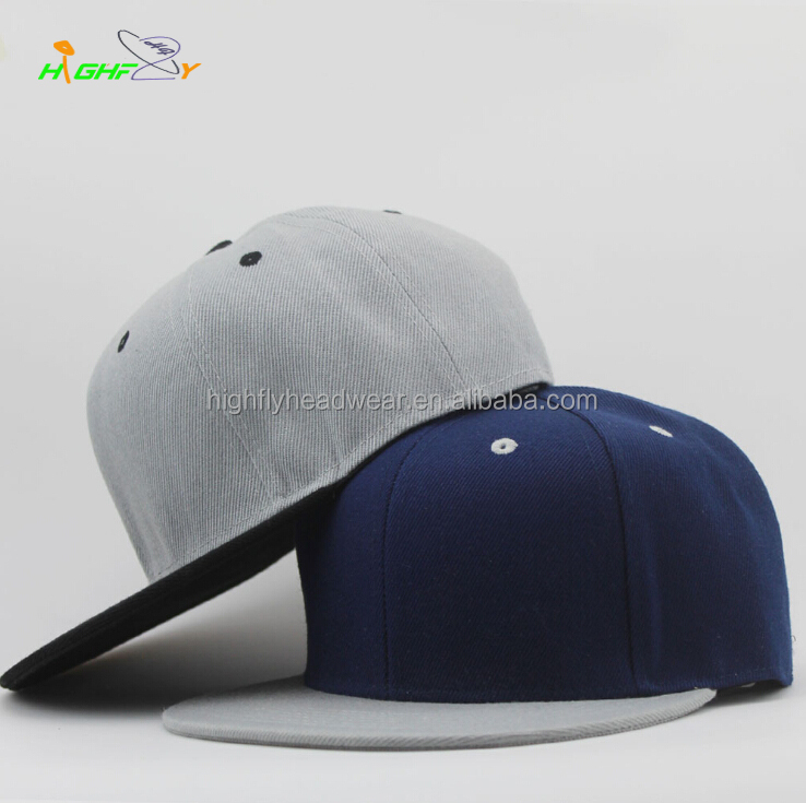 custom cheap two tone blank 6 panel plain or design your own logo snapback <strong>cap</strong> and hat for wholesale
